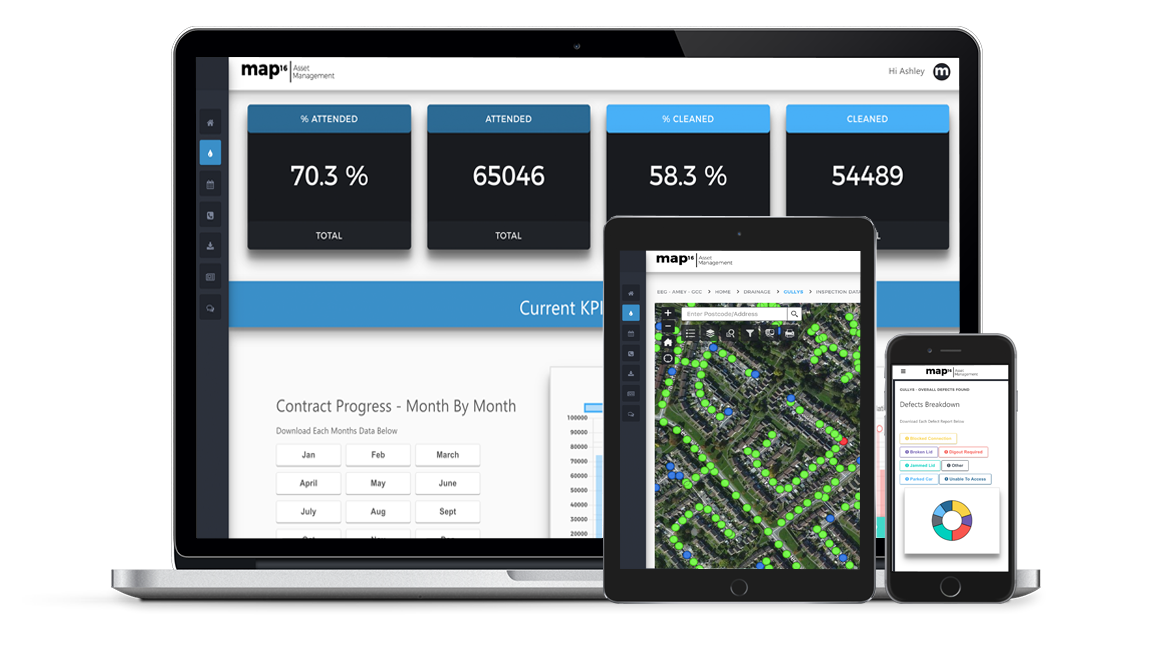 map16 Asset Management - Web Dashboard